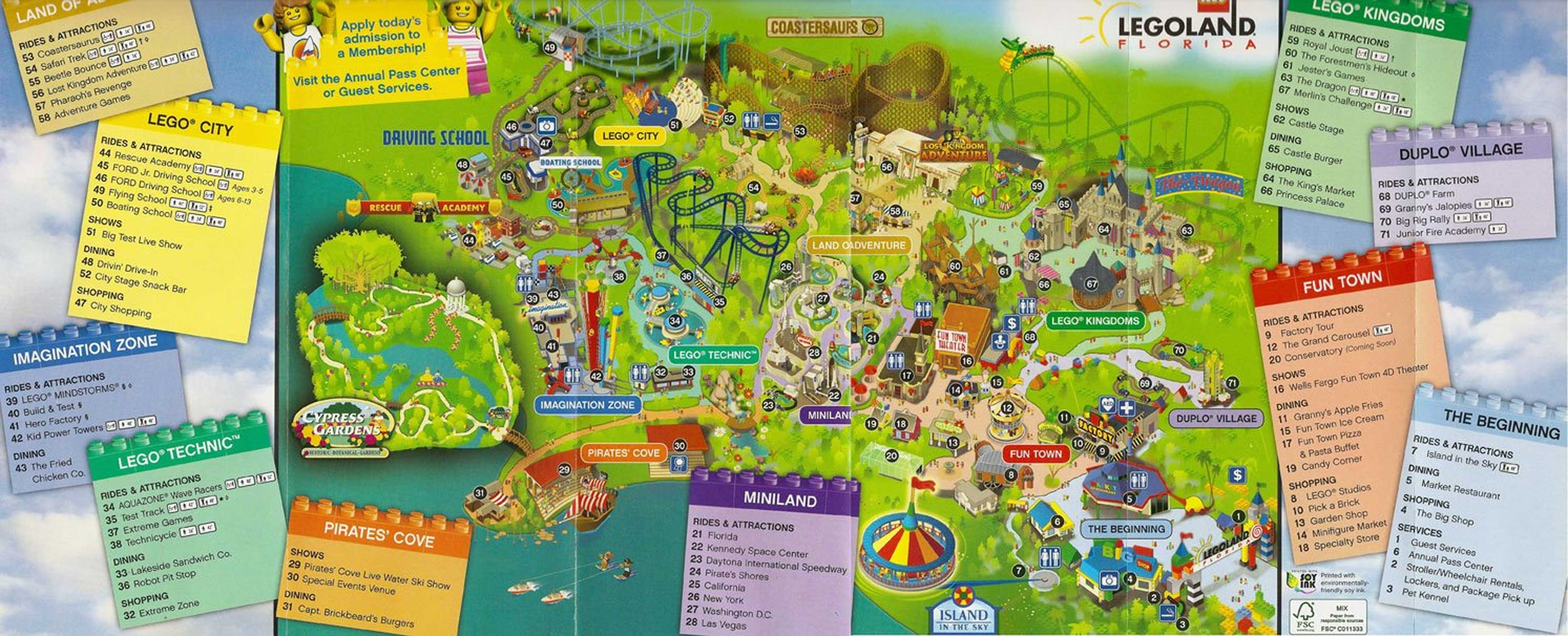 legoland resort florida map