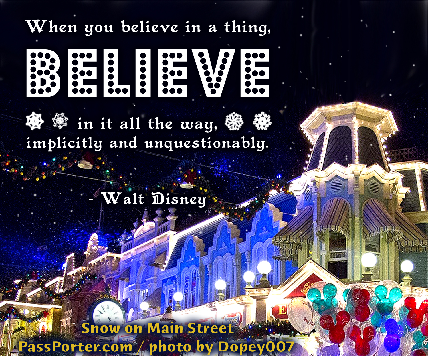 Photo illustrating waltdisneybelieve